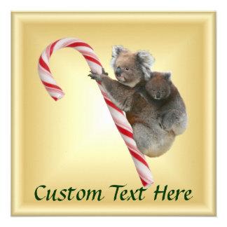 Koalas do bastão de doces do Natal