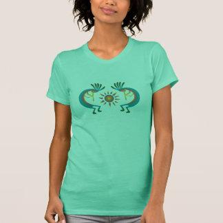 Kokopelli com de Sun a camiseta da hortelã a