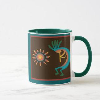 Kokopelli com de Sun as canecas de café a sudoeste