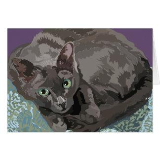 Korat o cartão do gato da boa sorte