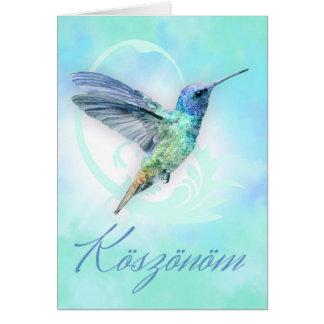 Koszonom - obrigado húngaro você - cartão