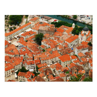 Kotor no cartão de Montenegro Cartao Postal