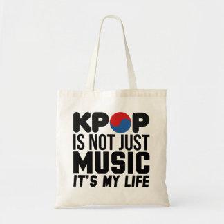 Kpop é meus gráficos do slogan da música da vida bolsa tote