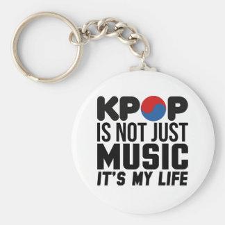 Kpop é meus gráficos do slogan da música da vida chaveiro