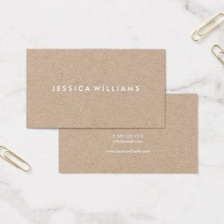 Kraft rústico moderno minimalista cartão de visitas