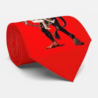 Krampus pune o laço mau das crianças gravata