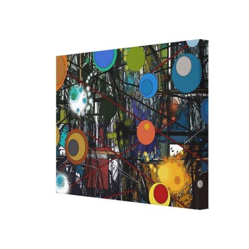 Kraz - impressão abstrato das canvas