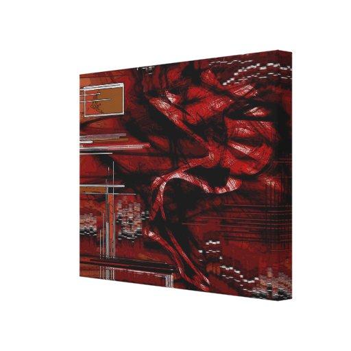 Krimp - abstrato impressão em tela