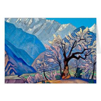 Krishna por Nicholas Roerich - cartão