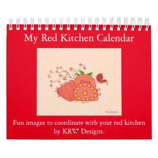 KRW meu calendário vermelho da cozinha