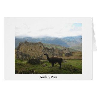 Kuelap, cartão de Peru