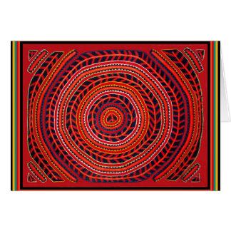 Kuna Sun universal tribal Cartão Comemorativo