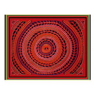 Kuna Sun universal tribal Cartão Postal