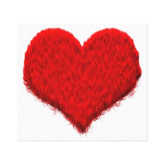 Kuscheliges Flausch- coração Impressão De Canvas Envolvida