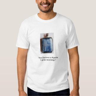 Kyanite ou jóia de prata do disthene camiseta