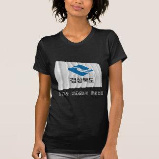 Kyongsangbuk-faz a bandeira de ondulação com nome camiseta