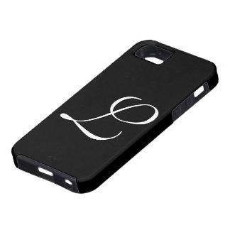 L caso de IPhone 5 do preto do monograma Capa Para iPhone 5