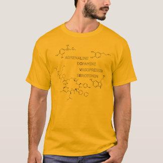 L.O.V.E. Estrutura química da ciência do geek Camiseta