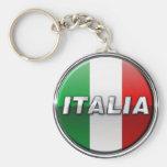 La Bandiera - a bandeira italiana Chaveiro