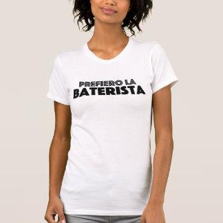 La Baterista de Prefiero Tshirts