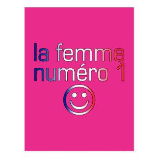 La Femme Numéro 1 - esposa do número 1 em francês Cartão Postal
