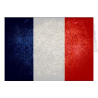 La France de Drapeau de Cartão De Nota