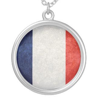 La France de Drapeau de Colar Com Pendente Redondo