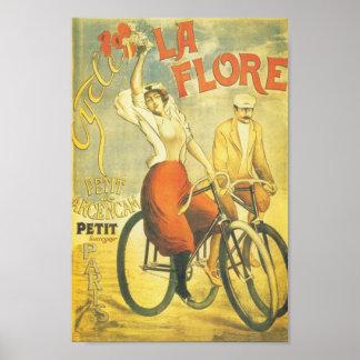 La francês Flore da propaganda da bicicleta Pôster
