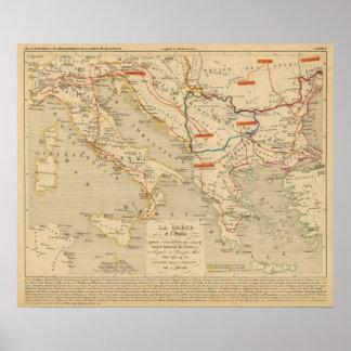 La Grece e l'Italie, uns 306 410, ap JC Pôster