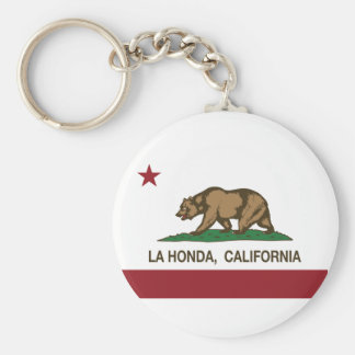 La Honda da bandeira da república de Califórnia Chaveiro