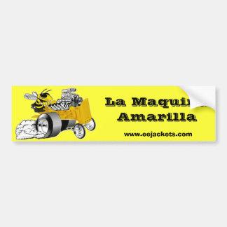 La Maquina Amarilla Adesivo Para Carro