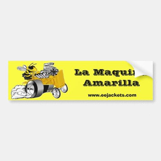 La Maquina Amarilla Adesivo