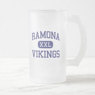 La médio Verne Califórnia de Ramona Viquingues Caneca De Vidro Fosco