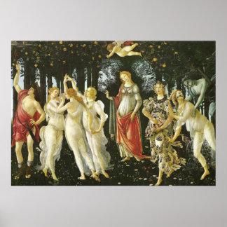 La Primavera por Sandro Botticelli Pôster