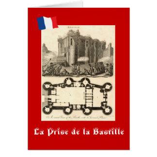 La Prise de la Bastille Cartão Comemorativo