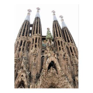 La Sagrada Familia - Barcelona, cartão da espanha Cartão Postal