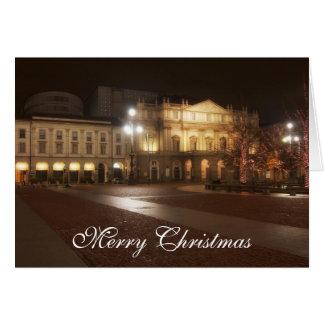 La Scala, cartão do Natal de Milão, Italia