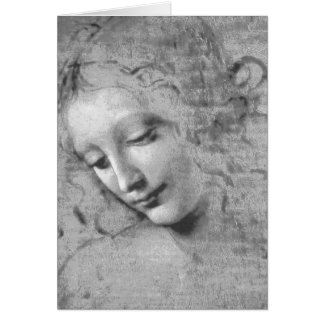 La Scapigliata por Leonardo da Vinci Cartão Comemorativo