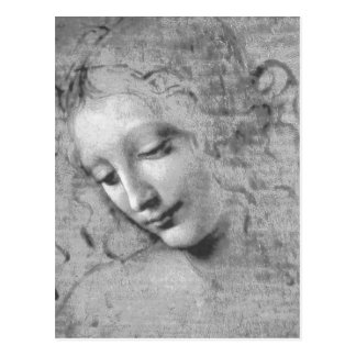 La Scapigliata por Leonardo da Vinci Cartão Postal