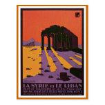 """""""La Syrie e de viagens vintage de Le Liban"""" poster Cartão Postal"""