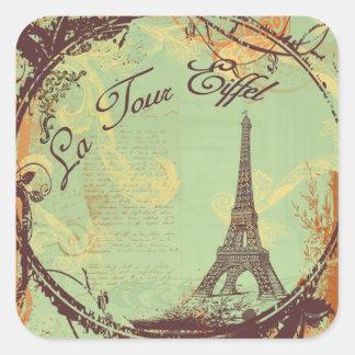 la Tour Eiffel Tower Vintage Style Stickers Tags