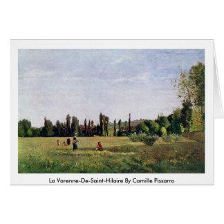 La Varenne-De-Santo-Hilário por Camille Pissarro Cartão Comemorativo
