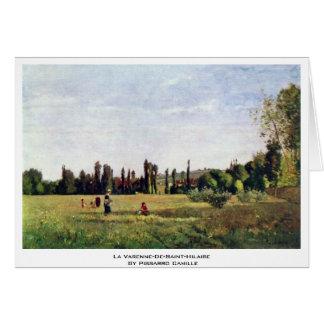 La Varenne-De-Santo-Hilário por Pissarro Camilo Cartao