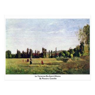La Varenne-De-Santo-Hilário por Pissarro Camilo Cartão Postal