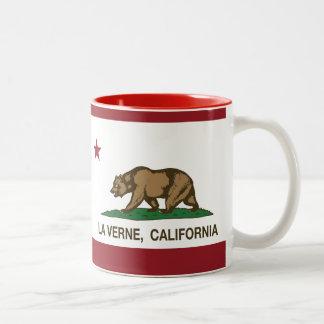 La Verne da bandeira do estado de Califórnia Caneca Dois Tons