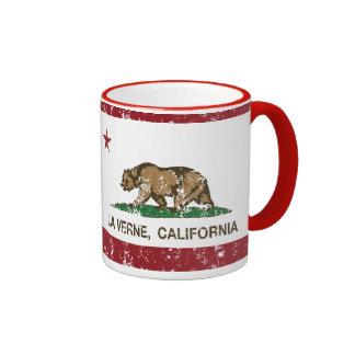 La Verne da bandeira do estado de Califórnia Caneca