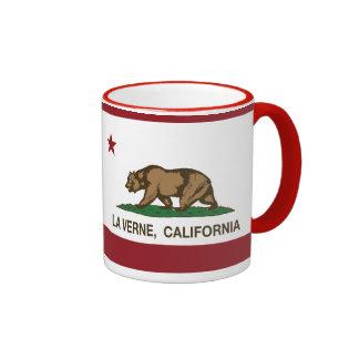 La Verne da bandeira do estado de Califórnia Caneca Com Contorno