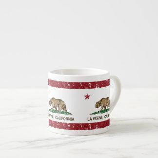 La Verne da bandeira do estado de Califórnia Xicara De Café Expresso