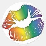 Lábios 3 do arco-íris adesivos