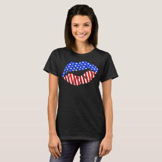 Lábios americanos camiseta